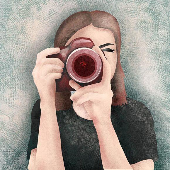 ilustracja fotograf
